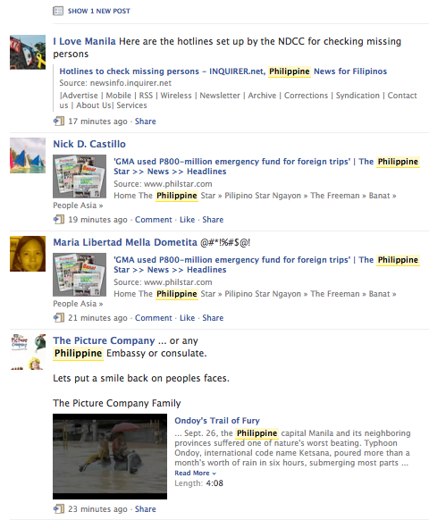 Typhoon Ondoy Hits the Philippines: Social Media Playing a Big Part