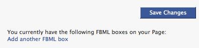 Adding new FBML tab