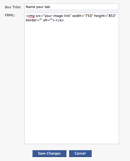 Creating FBML tab