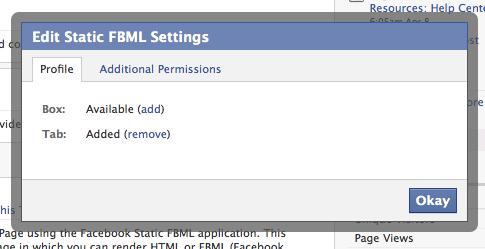 FBML Tab Settings