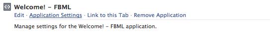 FBML settings