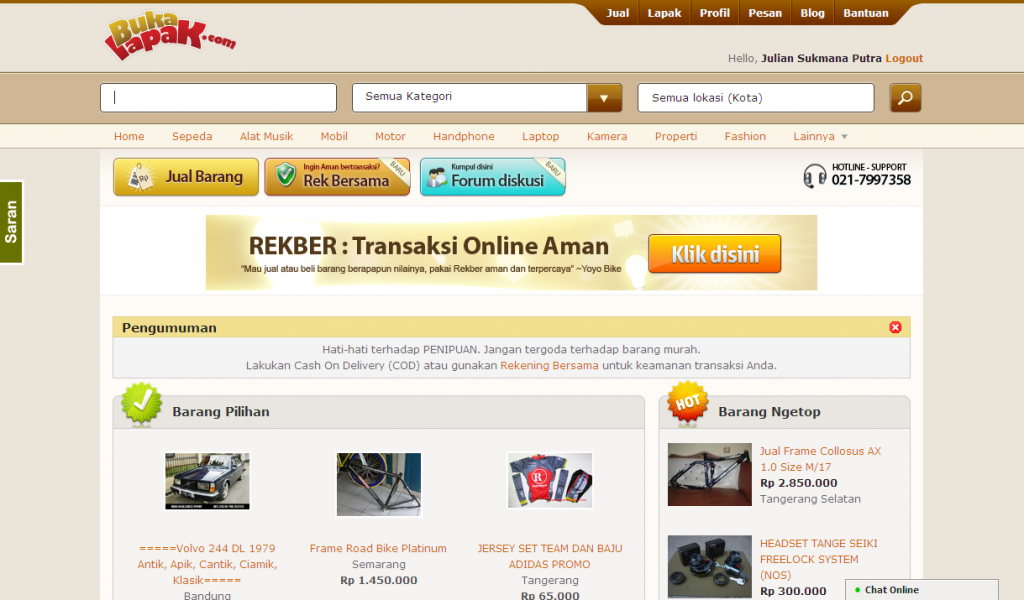 Bukalapak.com Screenshot