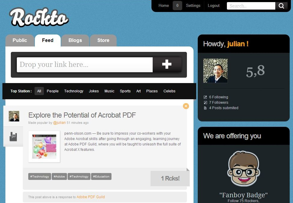Rockto Screenshot