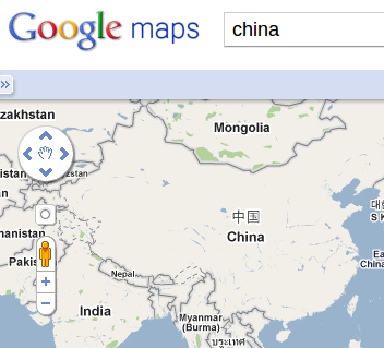 Google Map Still Finding a Way in China