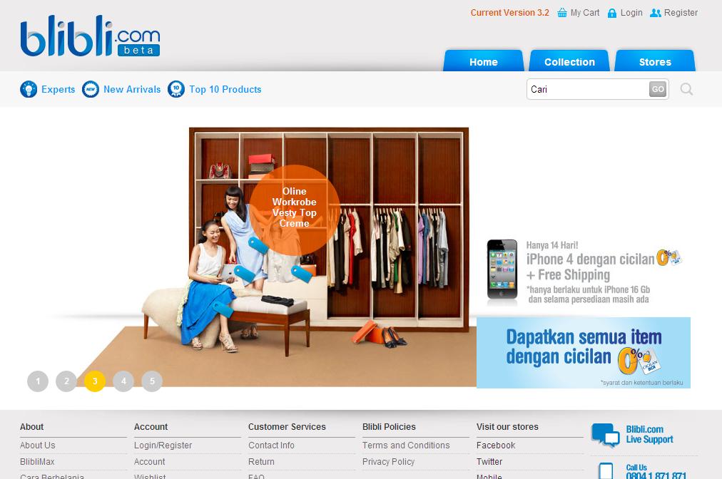 Blibli a new player in indonesian e commerce blibli screenshot stopboris Gallery