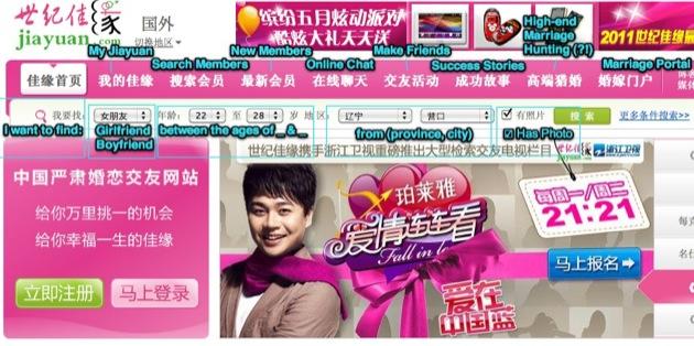 Chinese dating site jiayuan