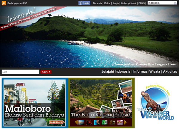 Indonesia Travel Website