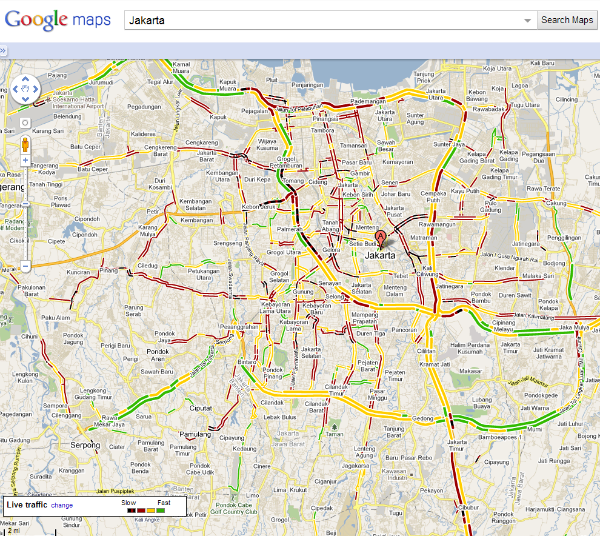 Google maps now provides traffic information in jakarta jakarta traffic publicscrutiny Image collections