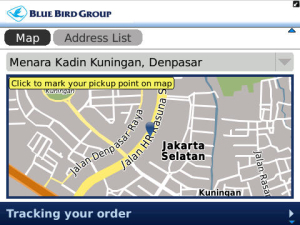 Need A Taxi in Jakarta? Just Use A BlackBerry App Map App For Blackberry on smartphone map app, best iphone map app, nokia map app, gps map app,