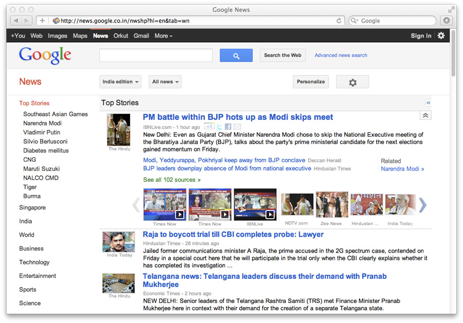 Google Redesigns its I...