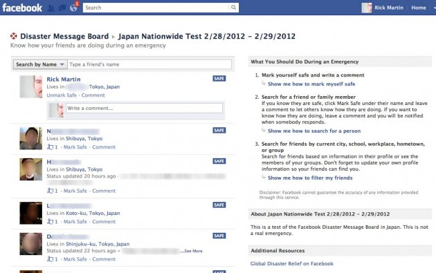 facebook mark safe