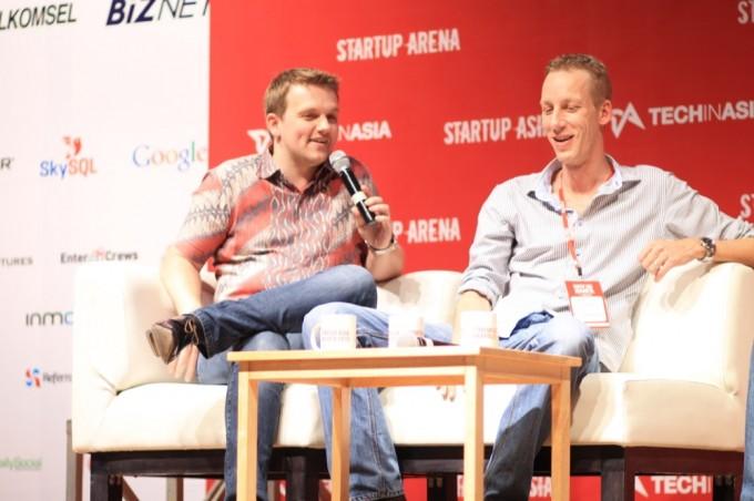 Tokobagus founders: Remco Lupker, Arnold Sebastian Egg