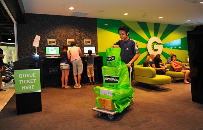 Daily Deals site Groupon, with a shop in Singapore