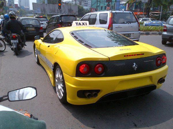 Jakarta S Mm Cab Pimps Your Ride Takes You Home In A Ferrari