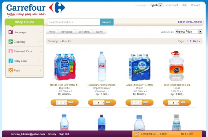 Carrefour indonesia jumps into e commerce wants to change for Website to shop online