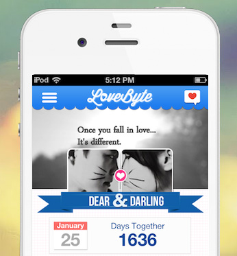 lovebyte-on-iphone
