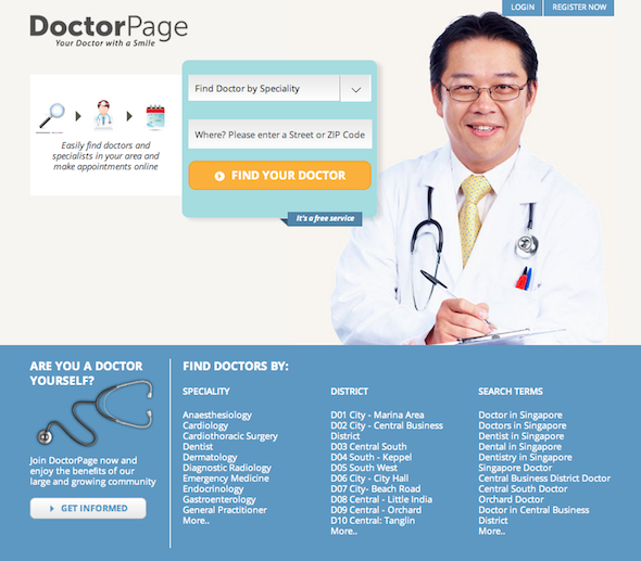 Book instant medical appointments with DoctorPage, as it