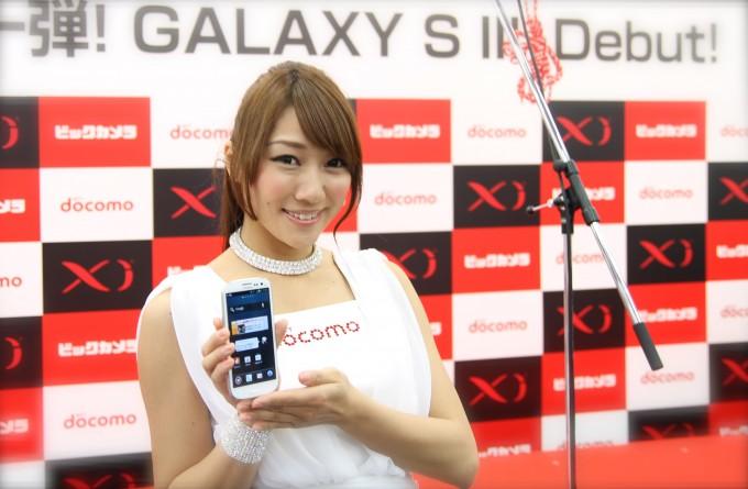 samsung galaxy 3, Japan debut