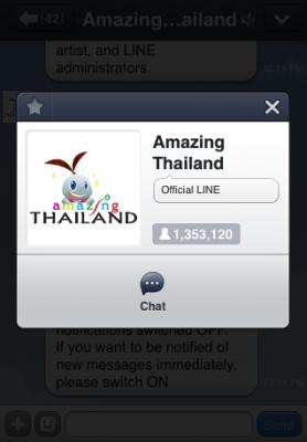 line tourism authority thailand