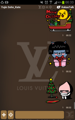kakao christmas sticker