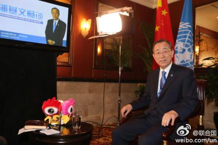 Ban Ki-moon on Sina Weibo