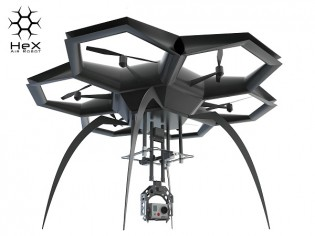HeX smartphone-controlled drone with mounted camera