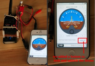 HeX drone with iPhone app for control
