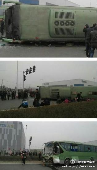 Foxconn Zhengzhou fatal bus crash, January 17th 2013