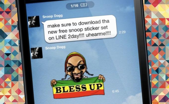 Snoop Dogg promotes Line app