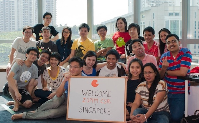 Zopim's team during an overseas CSR trip.