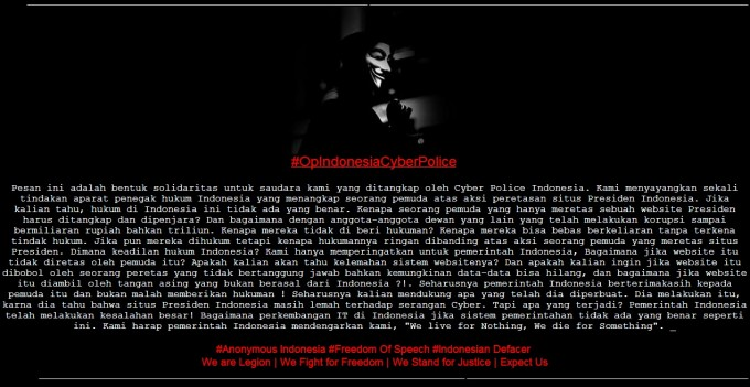 anonymous indonesia protest government