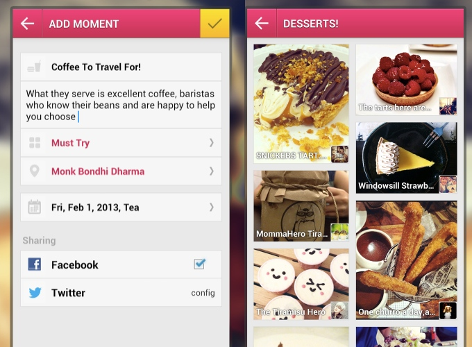 Burpple Android app