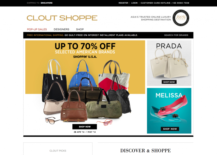 ecommerce sites singapore clout shoppe