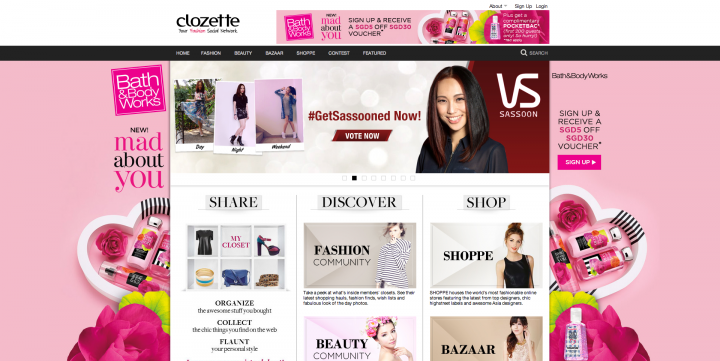 ecommerce sites singapore clozette