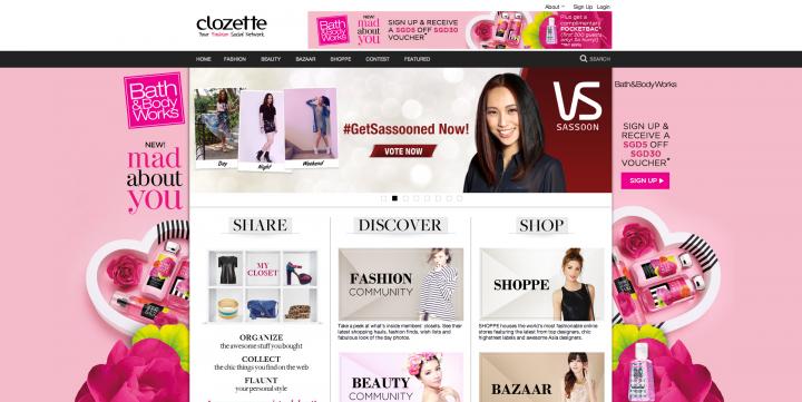 ecommerce sites singapore clozette
