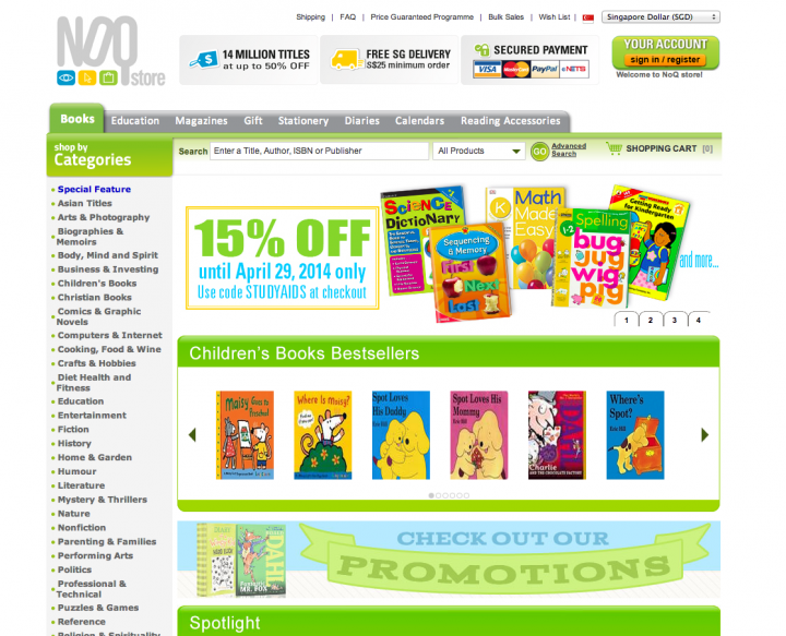 ecommerce sites singapore noq store