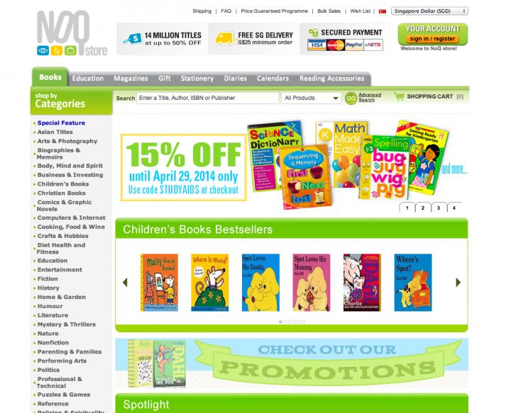 ecommerce sites singapore noq store