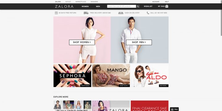 ecommerce site singapore zalora