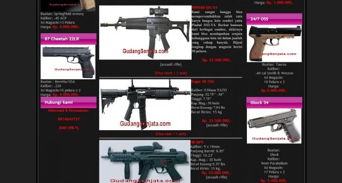 Gudang Senjata: Indonesian E-Commerce Site for Illegal Guns