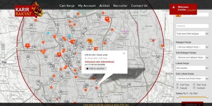 karir rakyat map feature
