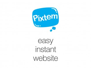 pixtem logo and tagline
