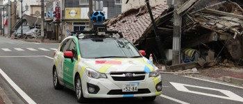 Google Street View car in Fukushima nuclear exclusion zone