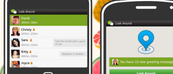 WeChat look around for BlackBerry