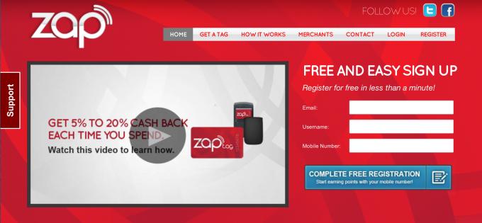 Screenshot ZAPTag