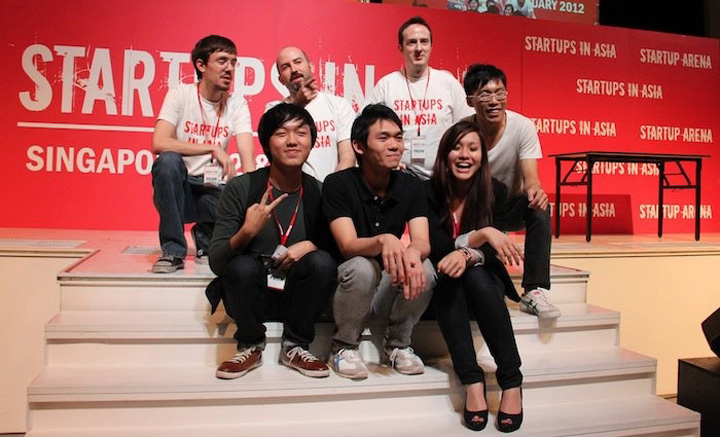 Tech in Asia team at Startup Asia Singapore 2012.