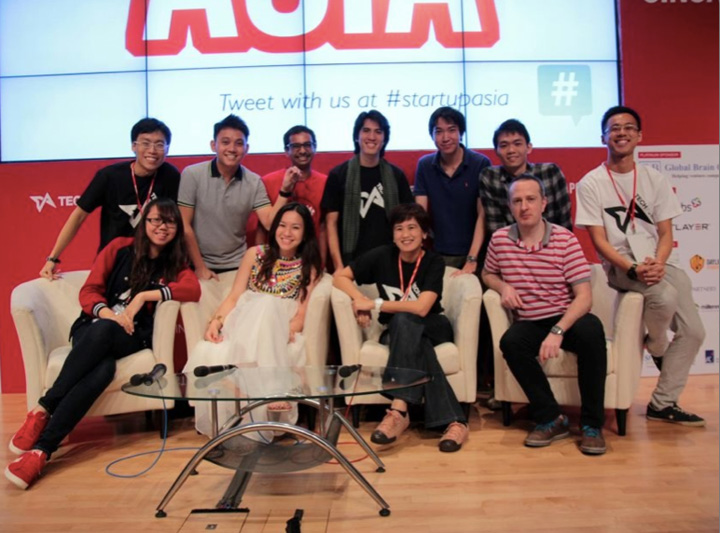 Tech in Asia team at Startup Asia Jakarta 2012.