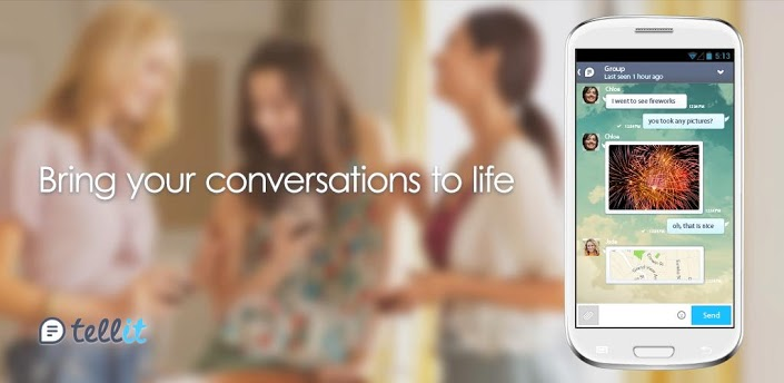 tellit gree mobile chat app