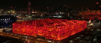Weibo Users Can Change the Color of Beijing's Olympic Pool