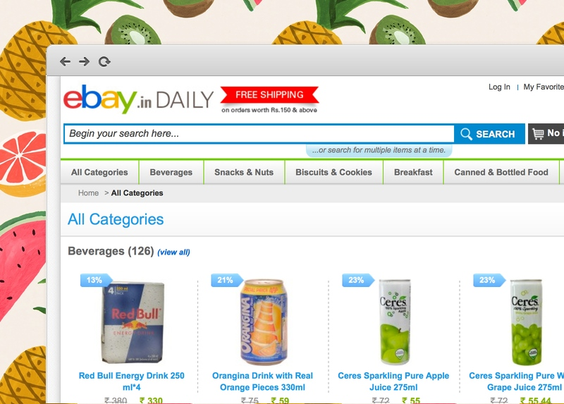 eBay India food