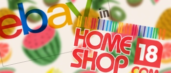 ebay and homeshop18 sell food in India